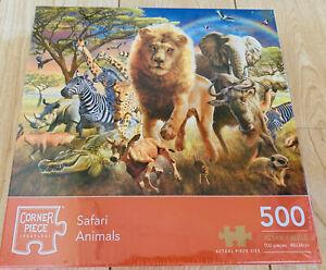 Safari Animals 500 Piece Jigsaw Puzzle NEW Wild Lion Zebra Giraffe Elephant