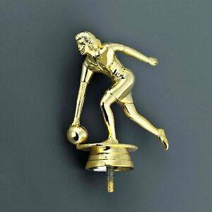 Bowling-Pokal (Damen) auf schwarzem Marmorsockel mit Ihrer Wunschgravur