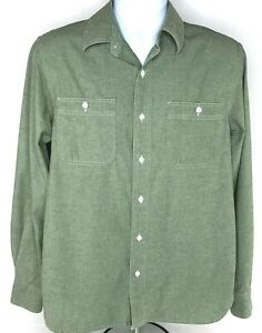 Austin Clothing Co Men's Green Long Sleeve Shirt Size Small 2 Front Pockets