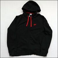 Nike Therma-Fit Full-Zip Hoodie   Large   Black/Red   Rare