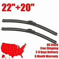 Frameless Wiper Blades Front Windshield for 2005-2007 Ford Escape J Hook 20+18/""