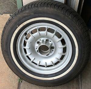 "Vintage Mercedes Benz 300 CD 300 TD 14"" 5 Lug Wheel & Tire p/n:1264001902"
