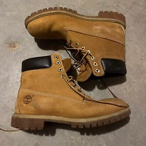 Timberland 10061 Mens Boots Size 11 M Classic Light Brown Suede Leather EUC