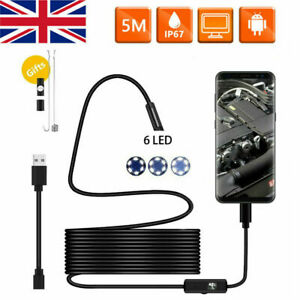USB Endoscope Borescope Inspection Camera Tube HD for Android Mobile Phone