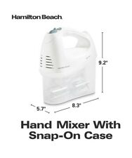 Electric Hand Mixer 6-Speed Hamilton Beach With Snap-On Storage Case