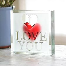 Spaceform Paperweight I Love You Romantic Love Gift Ideas for Him Men Her 1869