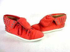 BOUTIQUE 9 WOMEN'S KATREEN FASHION SNEAKER MEDIUM ORANGE LEATHER US SIZE 7 MED