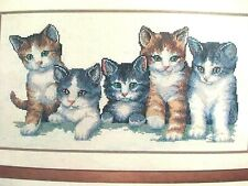 Vervaco  FIVE KITTENS /CATS COUNTED Cross Stitch Kit 30.568