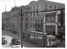 1936 ~ original press photo ~ SAN FRANCISCO ELECTRIC TROLLEY STREET CAR
