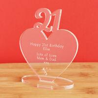 21st Birthday Personalised Milestone Heart Keepsake Gift Idea for HIM OR HER!