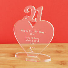 21st Birthday Personalised Milestone Heart Keepsake Gift Idea for HIM OR HER!