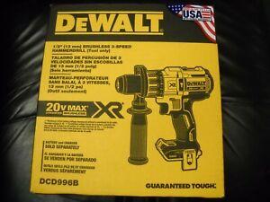 """DEWALT DCD996B Max XR 20V Li-Ion 1/2"""" Cordless Brushless Hammer Drill NEW IN BOX"""