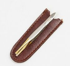 Solingen Germany Professional Quality Eyebrow/Hair Remover Tweezer &Leather Case