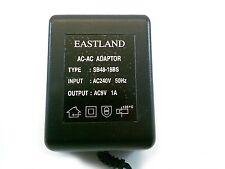 1 Pc - Eastland(Uk Std)Ac-Ac Adapter 9Vac-1Amp- 2.1mm Dc Power Plug # Zsb48-18Bs