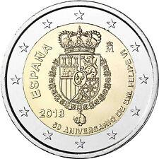 Spanien 2 Euro 50ter Geburtstag König Felipe VI 2018 Gedenkmünze bankfrisch