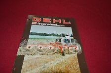 Gehl 204 206 308 310 Fingerwheel Hay Rake Dealers Brochure DCPA
