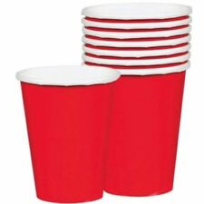 8pk Apple Red Paper Cups 266ml Birthday Party Wedding Celebration Tableware