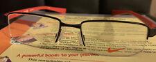 NIKE - 8160 012 50/17 - SATIN BLACK & RED - MEN EYEGLASS Frame