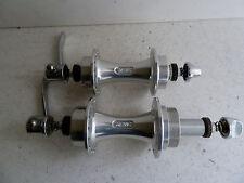 vintage NOS Mavic 500 hubs, pair, 28/32 hole, factory slotted hubset