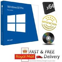 Windows 8.1 Pro 64-bit / 32-Bit Full UK Version on DVD & License COA Product Key