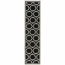 Safavieh Flat weave Wool Black/ Ivory 2' 6 x 12' Runner