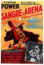 SANGUE E ARENA BLOOD AND SAND MANIFESTO TYRONE POWER RITA HAYWORTH LINDA DARNELL