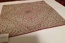 POTTERY BARN Beaded Embroidered SNOWFLAKE PILLOW COVER ~ Sold out ~New with Tags