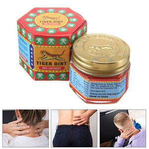 19g Tiger Balm Red White Thai Herb Ointment Aches Pains Relief Massage Rub New