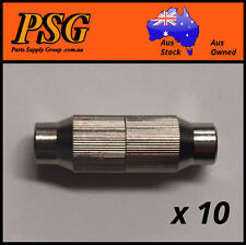 10 x TV Antenna Metal Coax / Coaxial Cable Joiner for RG6 & RG59 cables 75 Ohm