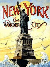 New York The Wonder City, Retro metal Aluminium Sign vintage / man cave / Garage