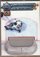 CURTIS JOSEPH 2001 Pacific In The Cage NET FUSIONS Netting Goal LEAFS RARE!