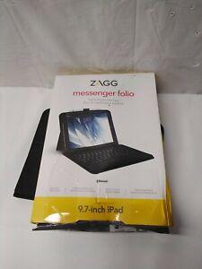 ZAGG Messenger Folio Tablet Case & Bluetooth Keyboard For Apple iPad 9.7 Inch