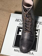 FRYE LOGAN JUMP BOOT #87876 BLACK US 12 NIB MADE IN USA
