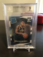 2017-18 Donruss Optic #188 Donovan Mitchell Jazz RC Rookie BGS 9 MINT