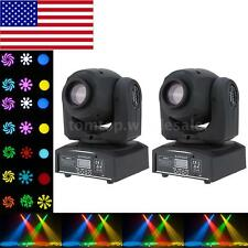 2pcs DMX 30W Moving Head Stage Light Lighting Gobo Pattern 9/11CH Sound Actived