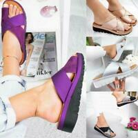 New Women Comfy Platform Sandal Shoes - PU LEATHER - Bunion Corrector Summer