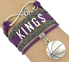 Sacramento Kings Infinity Jewelry Bracelet NBA Basketball Charm BRAND NEW