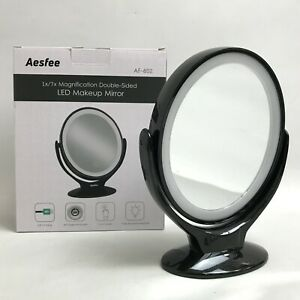 New Aesfree Double Sided Magnifying LED Touch Screen Make Up Mirror 431144