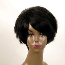 perruque afro femme 100% cheveux naturel courte noir ref WHIT 03/1b