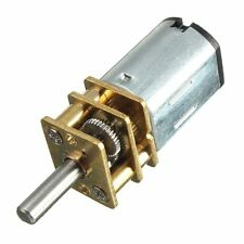 DC 12V 300RPM Micro Speed Reduction Gear Motor With Metal Gearbox Wheel CK