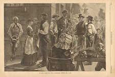 On South Street, New York, Longshoremen Waiting For A Job, Labor, 1881 Print