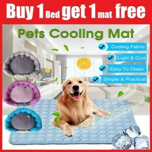 CLEARANCE! Pet Mat Bed Cooling Soft Non-Toxic Pad for Dog Cat Puppy S/M/L/XL