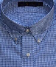 New $110 Polo Ralph Lauren Long Sleeve Blue Checked Cotton Poplin Shirt / Big 2X
