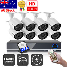 720P 8 Cameras 1500TVL Surveillance Security Camera System Outdoor With 1TB HDD