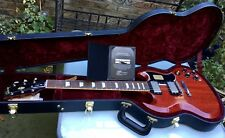Gibson Custom Shop 2013 limitada 1961 SG/Les Paul Run Standard Cerezo Desteñido Envejecido