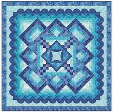 """New Pieced Quilt Pattern TRANQUILITY 69"""" x 69"""""""