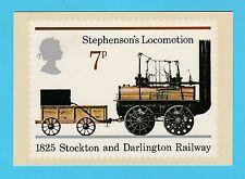 BRITISH POST OFFICE - SCARCE  PHQ  CARD  NO. 12 a - STEPHENSON'S  LOCO  -  1975