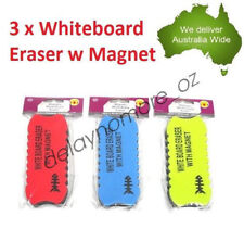 3 x Magnetic White Board Eraser Marker Cleaner School Office Whiteboard with Mag