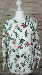 New Look Floral Tie Sleeve Pretty Bright Summer Top BNWT Size 12