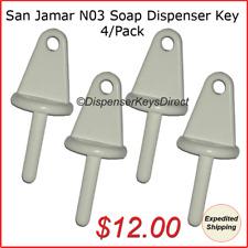 San Jamar N03 Dispenser Key for Liquid Soap Dispensers (4/Pack)